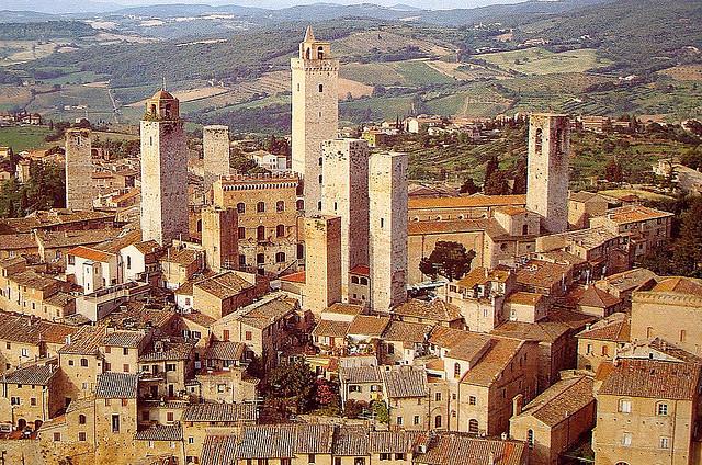 Panorama del borgo di San Gimignano